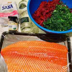 Beet Gravlax ingredients