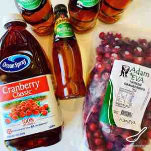 Cranberry Punch ingredients