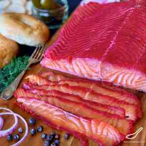 Salmon Gravlax with Beets
