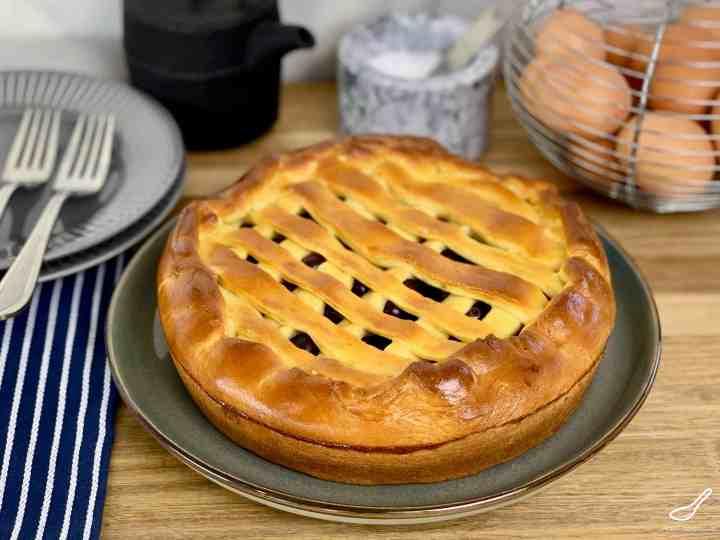 Russian Blueberry Pie Blueberry Pie (Пирог с голубикой или черникой)