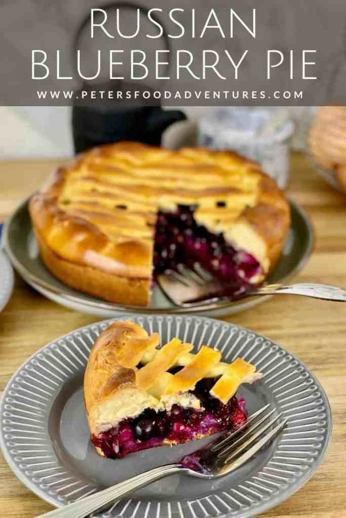 This will be the best blueberry pie you've tasted, made with a sweet Russian yeast dough. A rustic, old style open pie recipe that will have everyone asking for more. Russian Blueberry Pie Recipe.