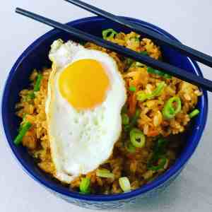 Kimchi Fried Rice with egg