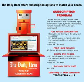 Daily Item Newsbox Ad