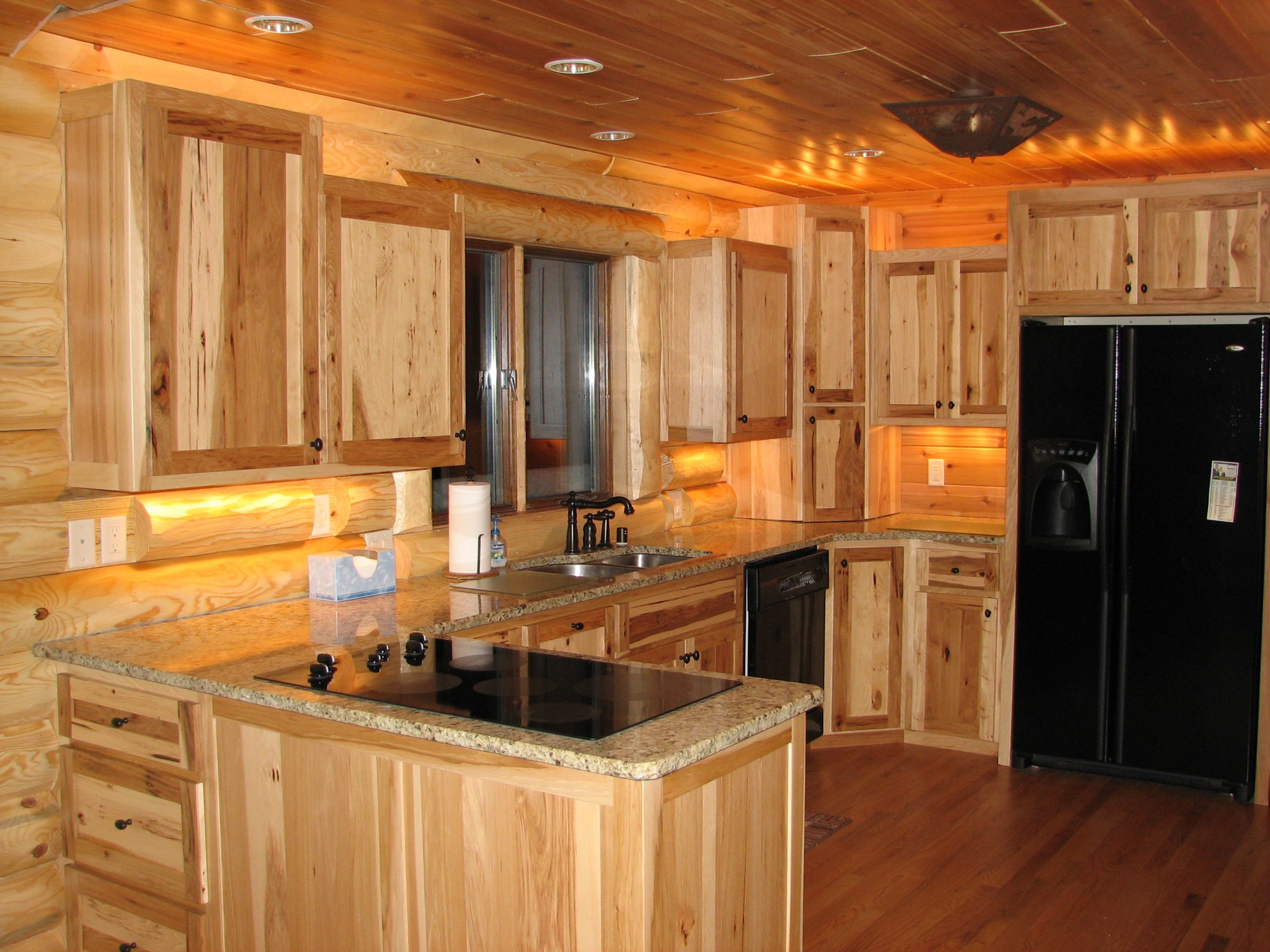 rustic hickory kitchen cabinets design a online peterson custom