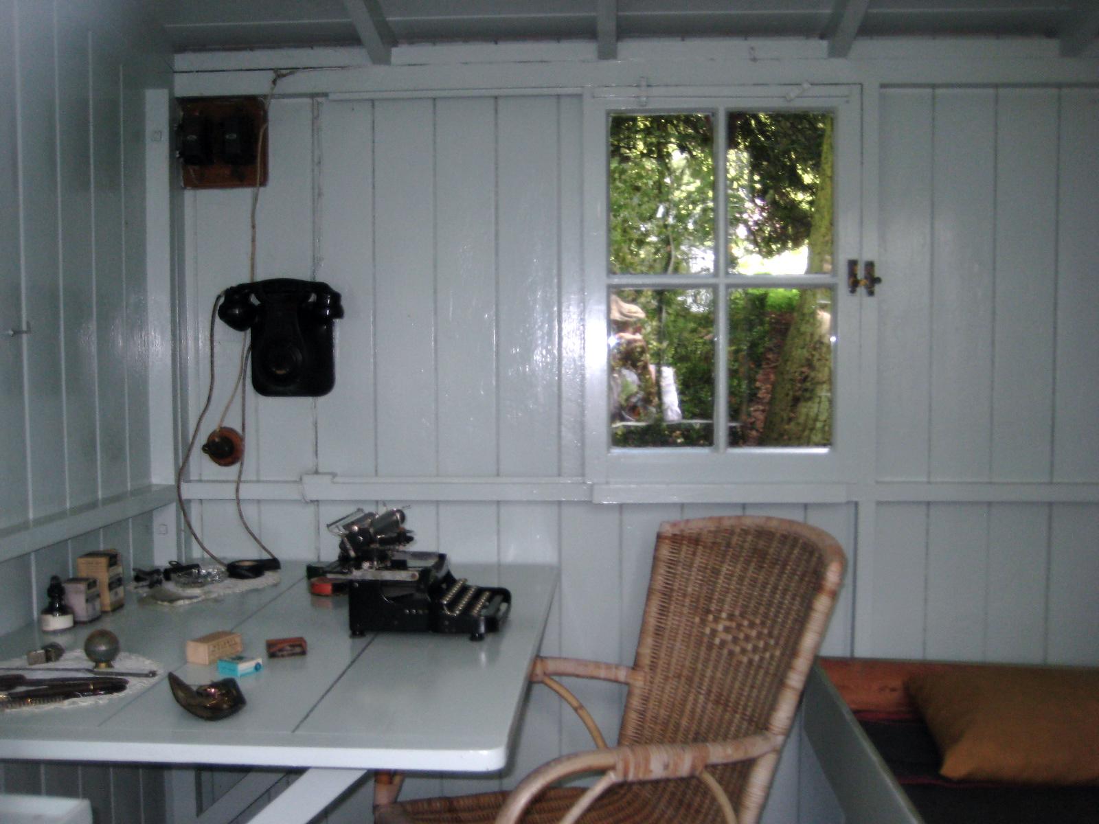 Interior of George Bernard Shaw's writing hut