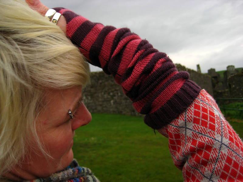 Looking at Dunluce Ruins