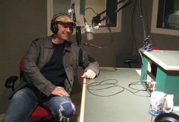 On-air WNPR (photo by Catie Talarski)