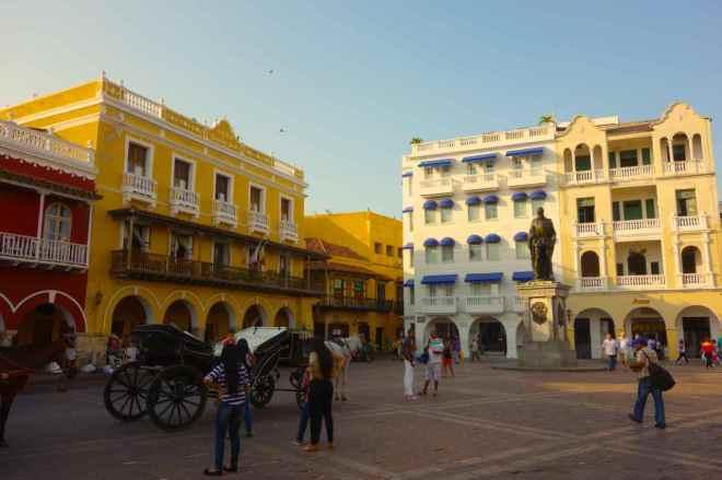 Cartagena, hinter dem Uhrenturm, Eingang zum Centro, Plaza de los Coches