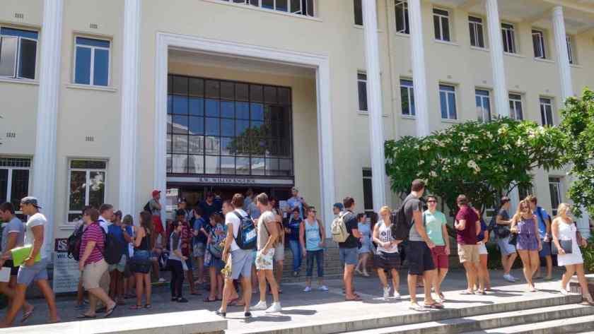 Südafrika, Stellenbosch Universität mit Studenten