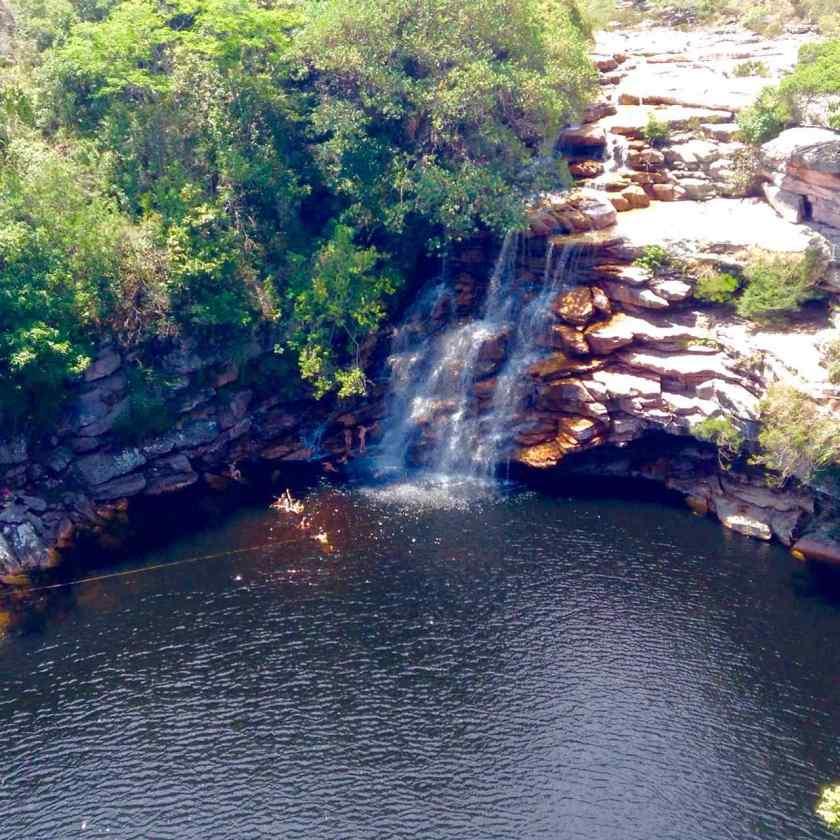 Lencois Chapada Diamantina - Diabo Pool von oben