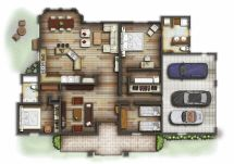 Interior Design Rendered Floor Plans