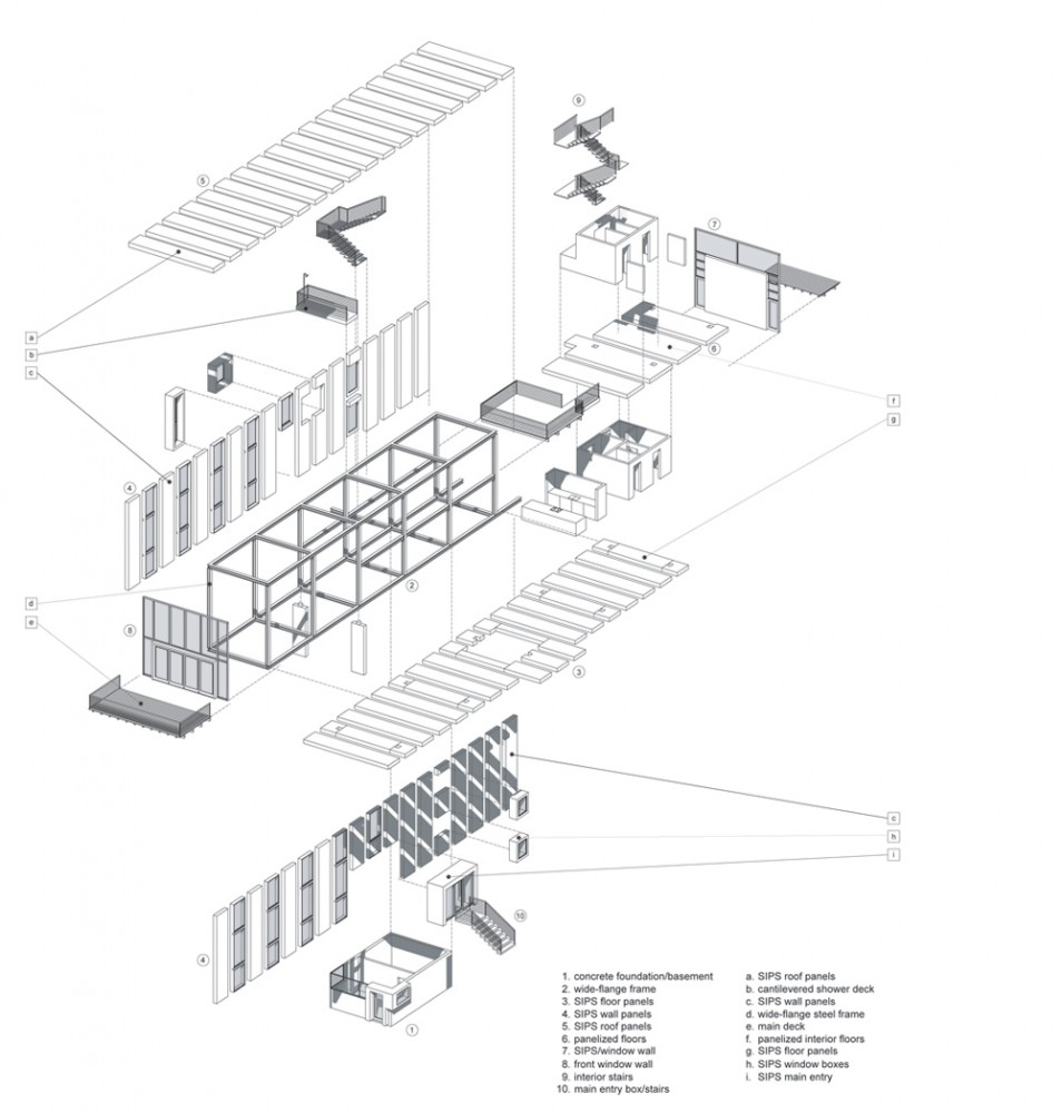 Digital Portfolio: Exploded Axonometric Diagrams Research