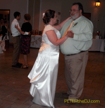 "Doing both parent dances together saves time for more ""open dancing"" later."