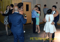 Dancing the night away during Malika and Sergio's wedding reception at Park Atrium in Statler Hall at Cornell University, Ithaca, NY