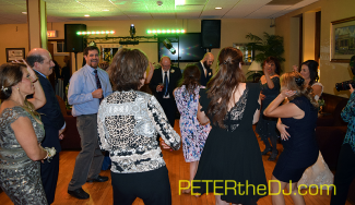 Dancing the night away at Anessa and Jason's wedding reception in Oswego!