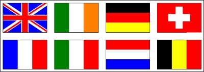 The eight European countries impacted by my BI project