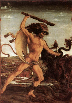 Hercules and the Hydra - Antonio del Pollaiolo