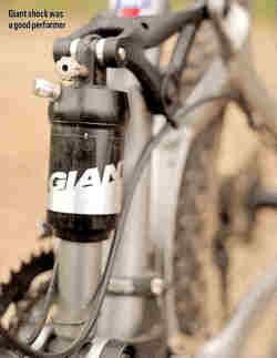 Giant rear shock. © MBR magazine