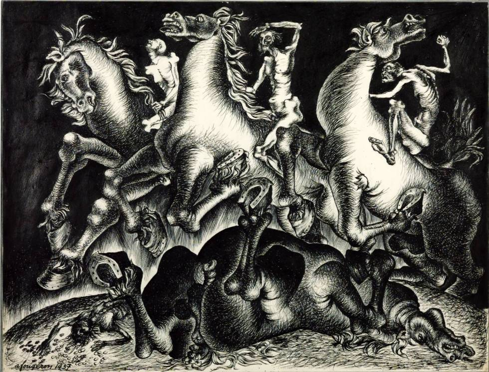 The Four Horsemen of the Apocalypse 1937 André Fougeron 1913-1998 Purchased 2001 http://www.tate.org.uk/art/work/T07707
