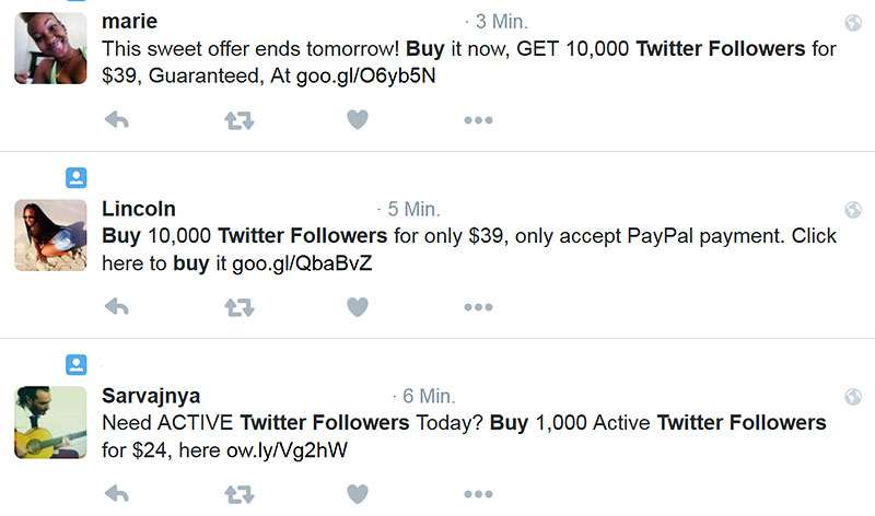 never buy twitter followers