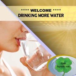 WELCOME DRINKING MORE WATER