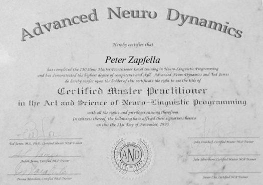 Peter Zapfella AdvancedNeuroDynamic-certificate-