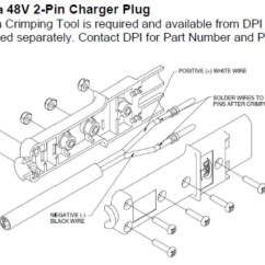 Yamaha Golf Cart Battery Wiring Diagram Stator Charger Plug - 2 Pin (nabson Plug) Pete's Carts