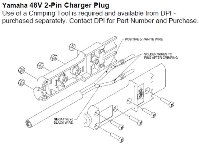 1990 ezgo marathon wiring diagram rca plug yamaha replacement connector - g19 g22 golf cart charger   ebay