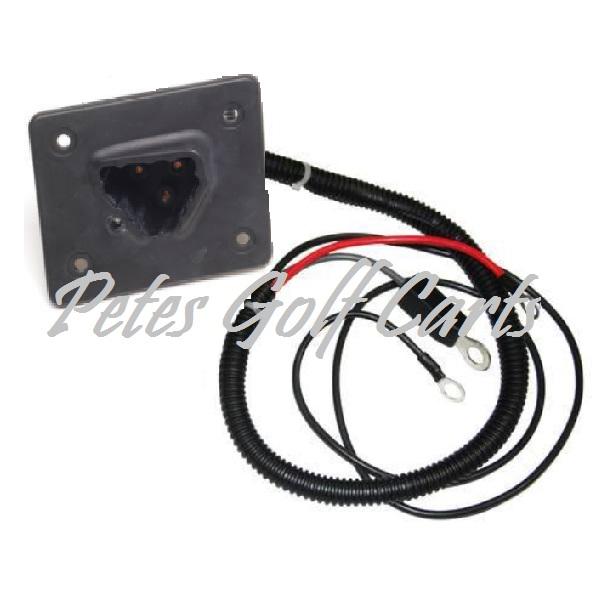 ezgo golf cart charger receptacle 48v txt express l4 s4 models 2010 and up