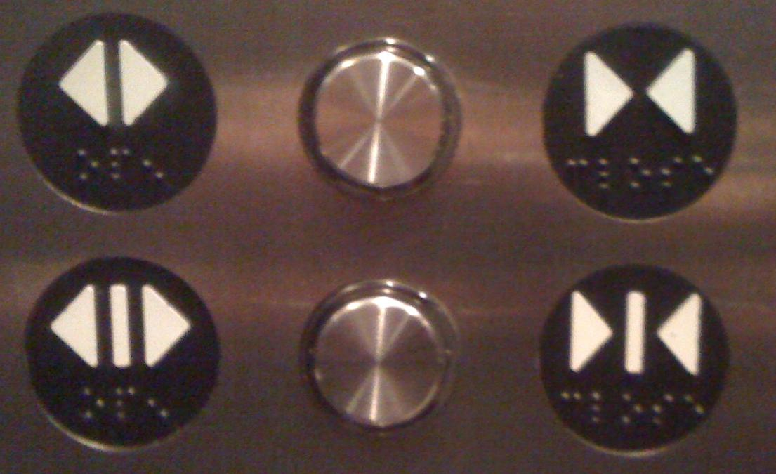 Elevator Button SymbolsOpen Close or What  Petes