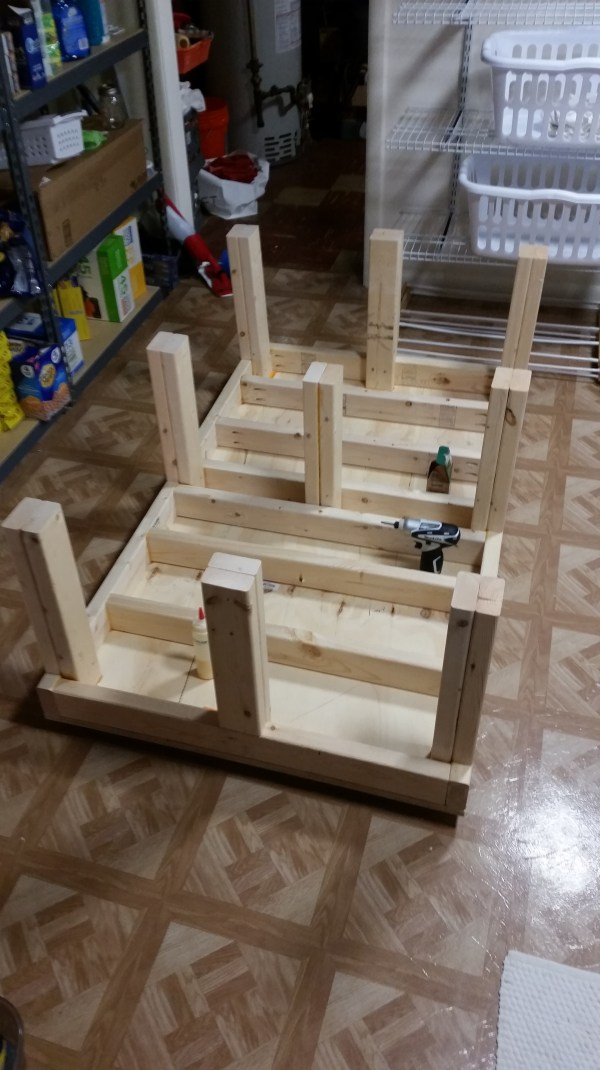 Washer/dryer platform | Pete's Home Projects