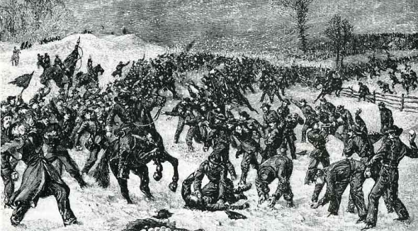A Civil War Snowball Fight