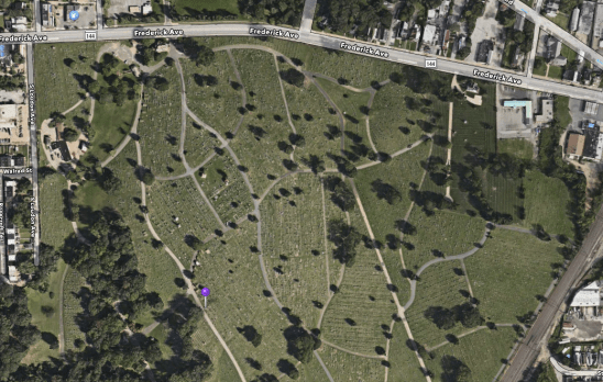 Location of James R. Herbert's Gravesite.