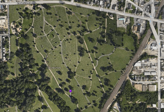 Location of John T. Ford's gravesite.