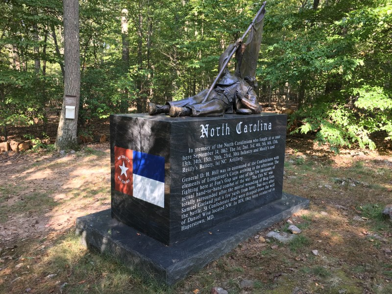 The North Carolina Monument on the South Mountain Battlefield. - <i>Photo by the Author</i>