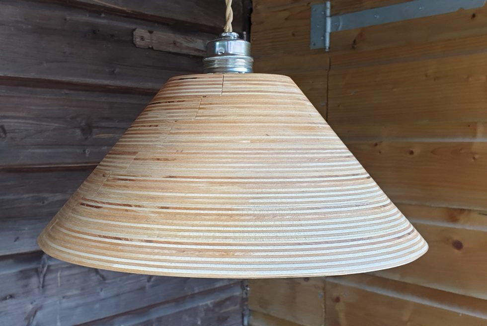 Houten, hanglamp, berken