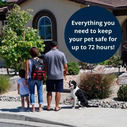 Pet Emergency kit, Dog survival kit, Pet Survival pack, Pet Evac Pak, Pet Evacuation Pack, Ready American pet