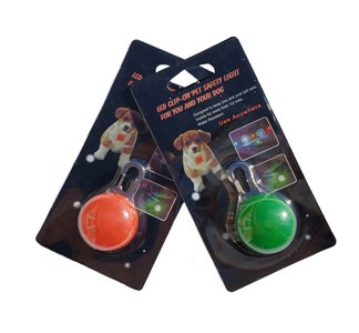 LED Clip-on Light Assorted Colors