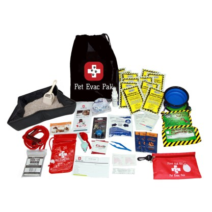 Cat emergency survival pack, earthquake kit for cat,