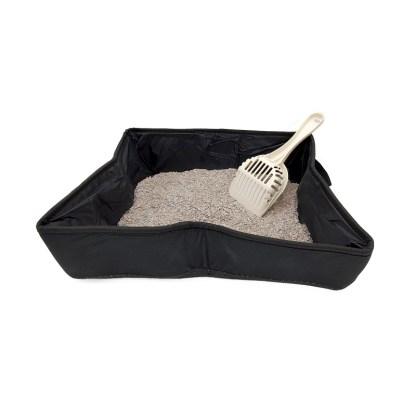 Travel Cat Litter Box Combo - litterbox, scoop, 2 lbs litter