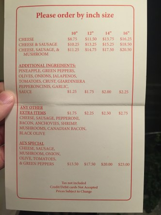 The limited menu