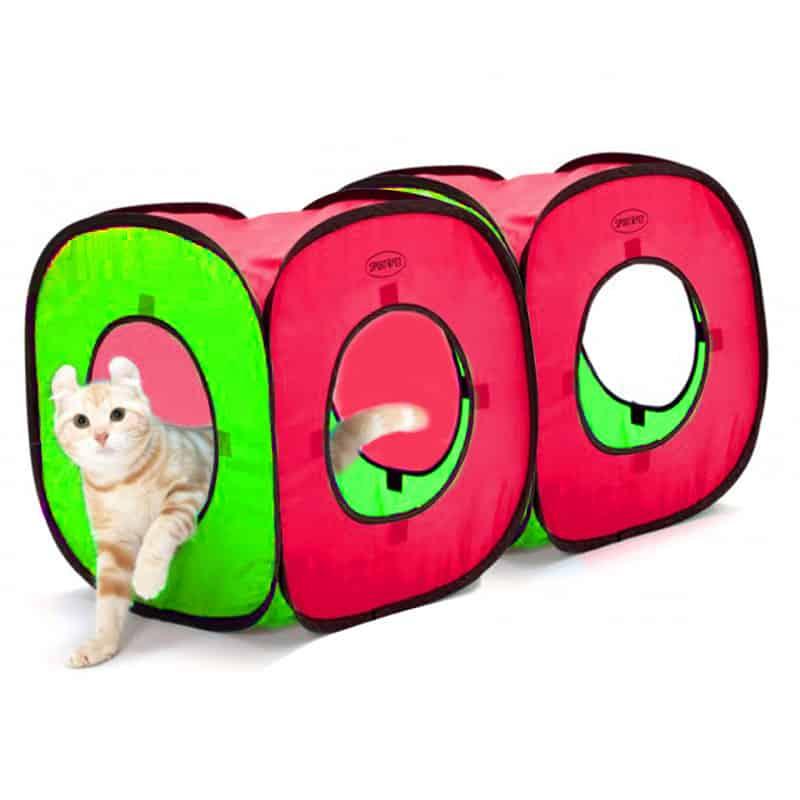 SportPet - Cat Cube Tent Housing - red / green