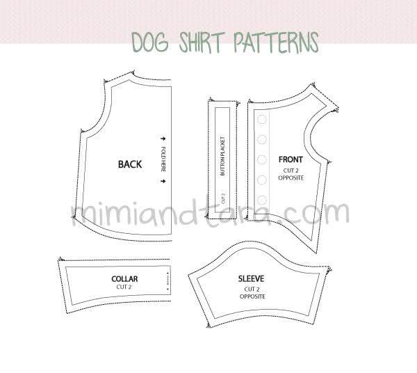Moldes de Roupas De Cachorro Para Imprimir: confira os