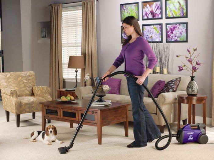 Eureka Mighty Mite Pet Lover Vacuum on Floor