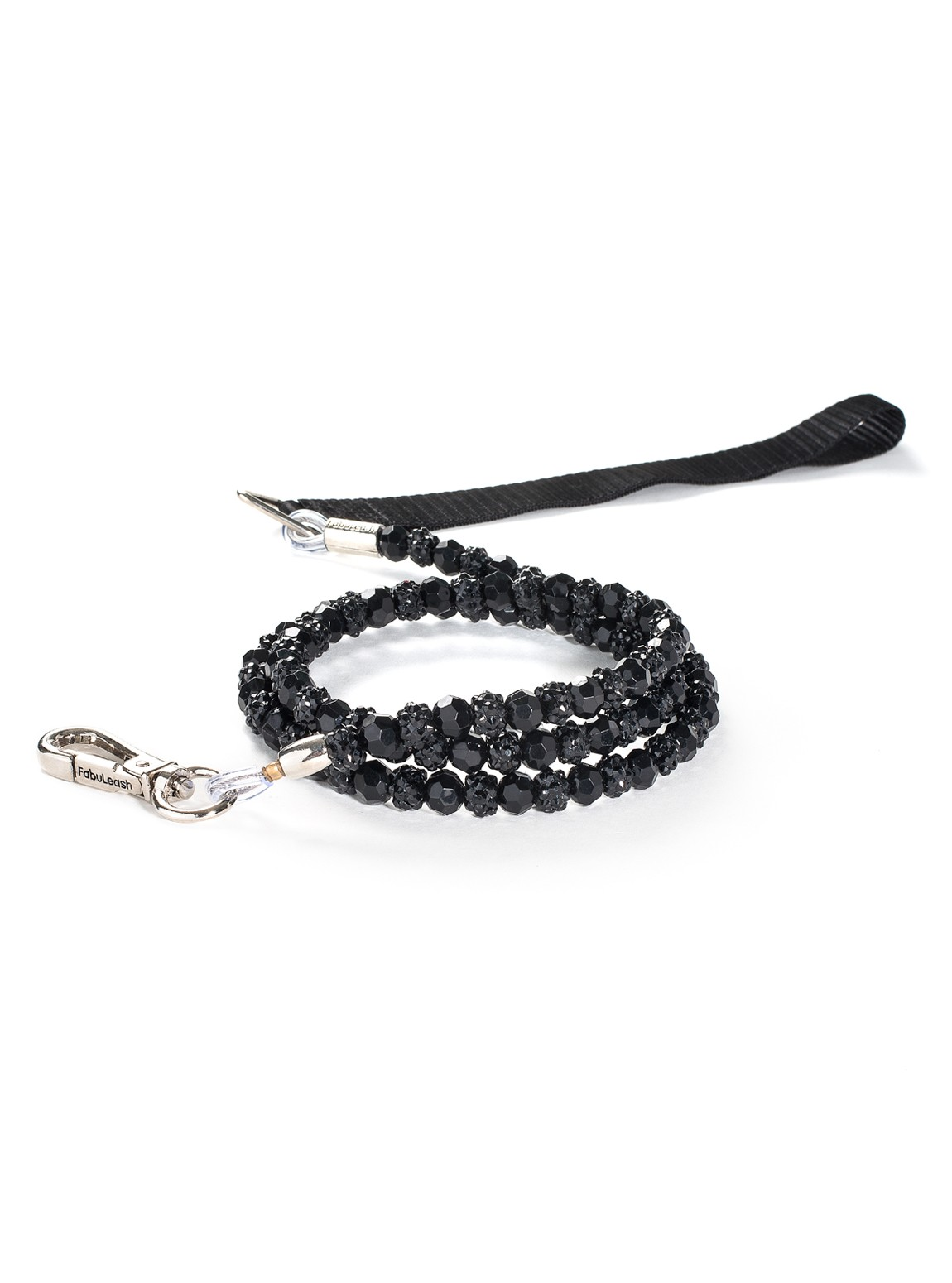 Fabuleash Black Fireball Beaded Dog Leash