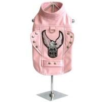 Pink Motorcycle Dog Jacket