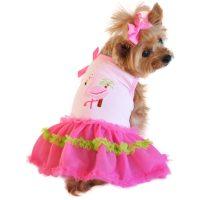 Pink Flamingo and Palm Tank Dog Dress - PetImpulse.com