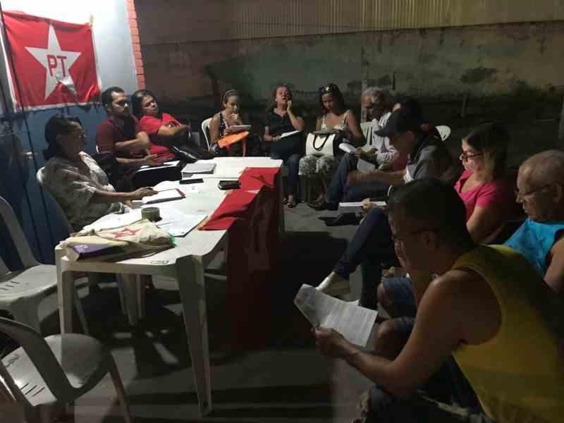 Reunião do DAP Feira de Santana/BA no aniversário de 39 anos do PT