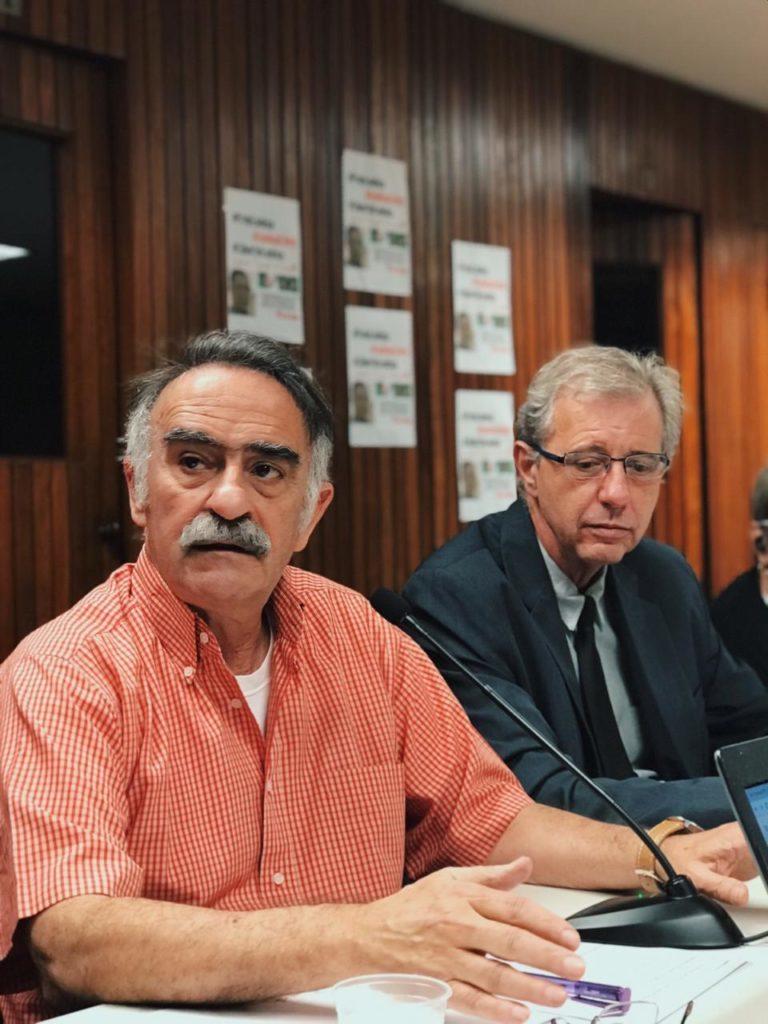 Sokol e Betão na coletiva de imprensa