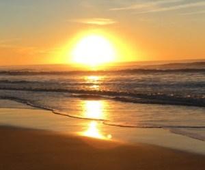 Plages Grand Crohot coucher de soleil